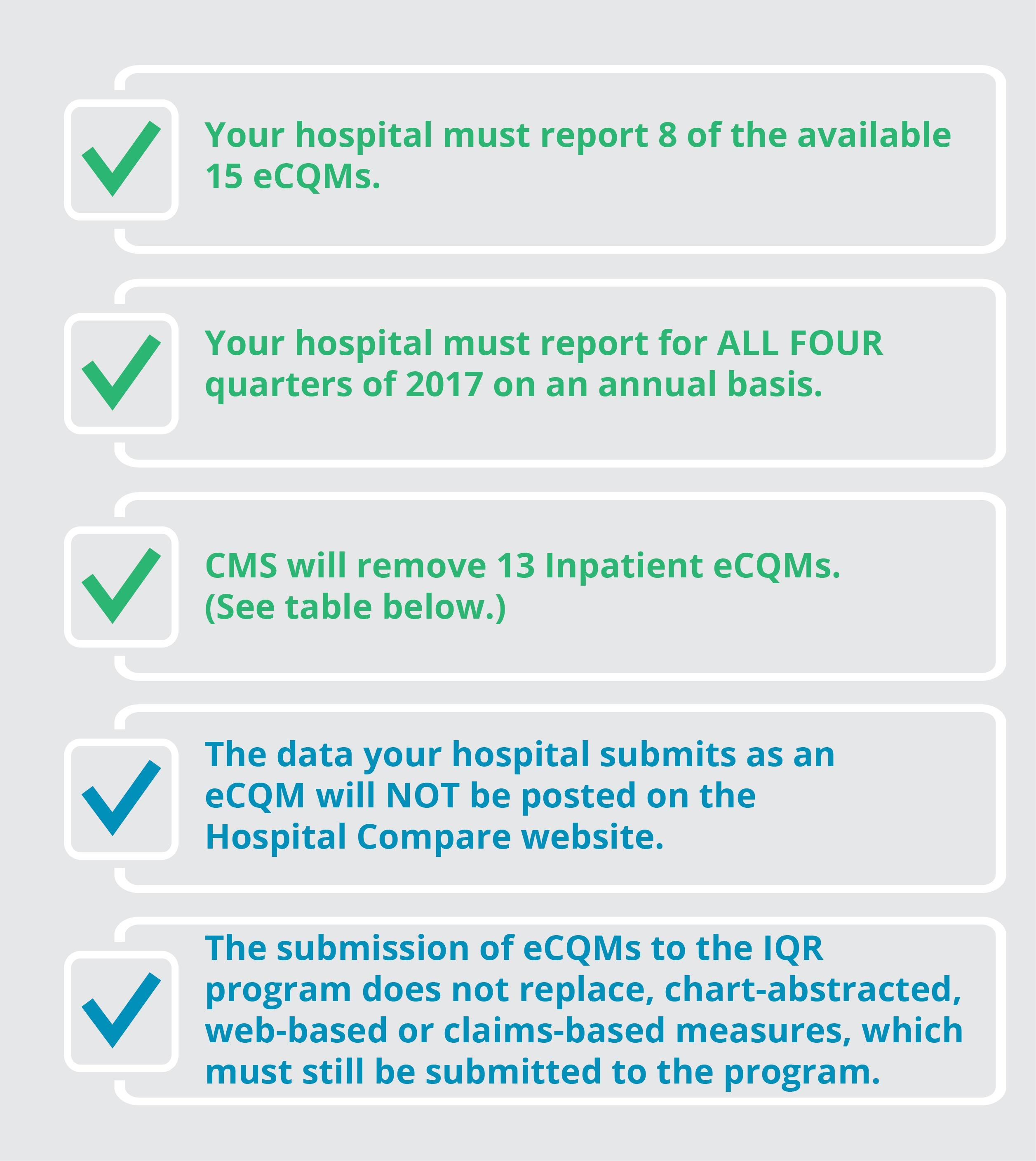 eCQM Requirements 2017